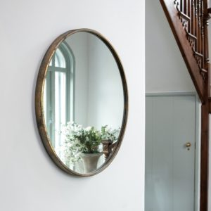 Round Mirror Antique Brass