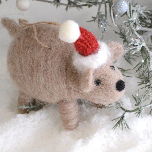 Wilma Wombat Christmas Decoration