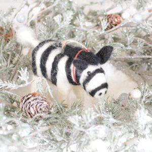 Zsa Zsa Zebra Christmas Decoration