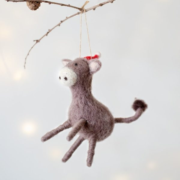 Derek Donkey Christmas Decoration