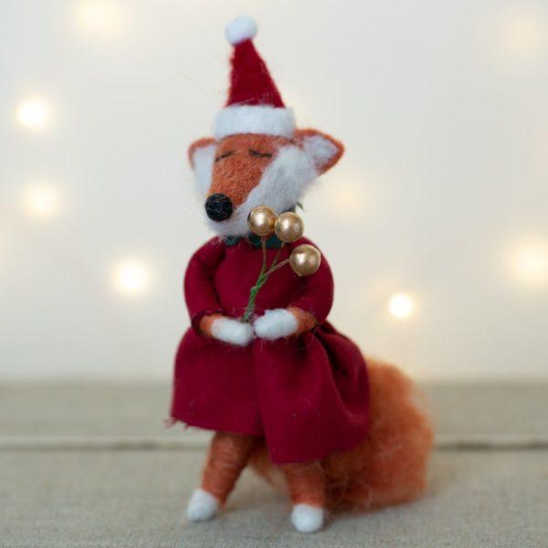 Frannie Fox Woolen Christmas Decoration
