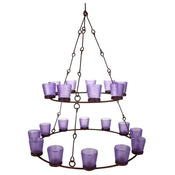 Double T-Light Chandelier with 21 Votives