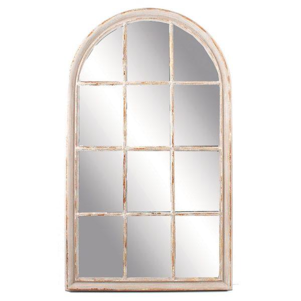 Round-Top Mirror Antique Grey