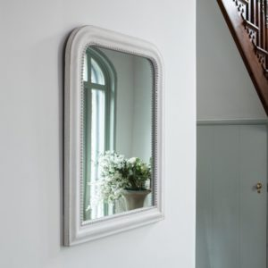 Vintage Mirror Antique White
