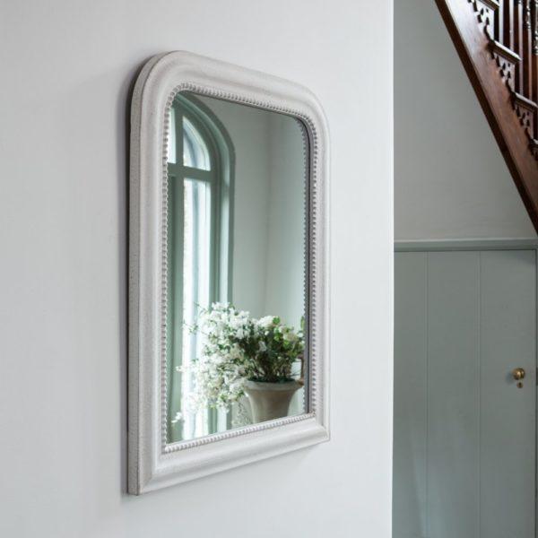 Vintage Mirror Antique White