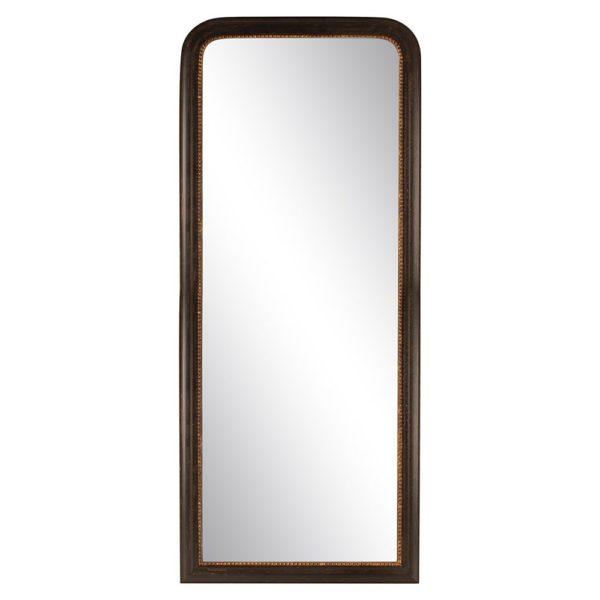 Vintage Mirror Black with Gold Rim