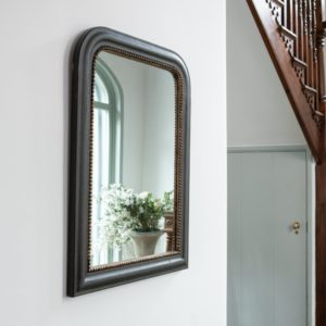 Vintage Mirror Black with Gold Rim 61x92cm