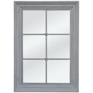 Window Panel Mirror Antique Grey