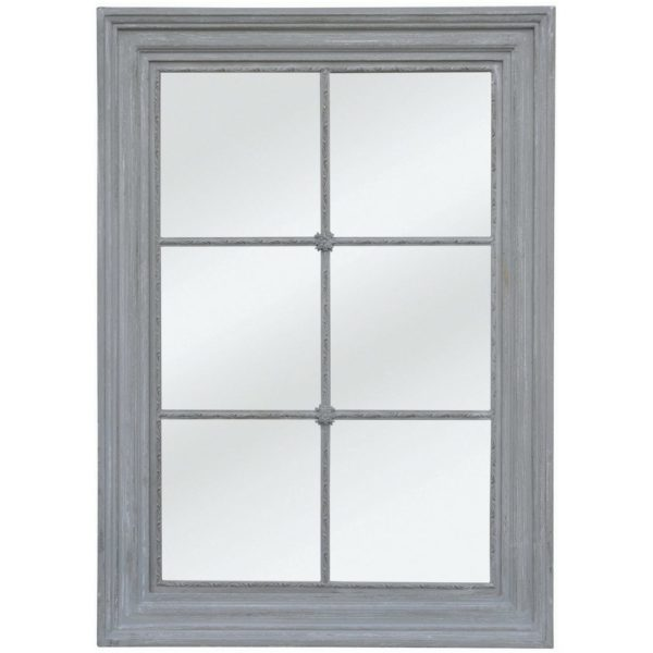 Window Panel Mirror Antique Grey