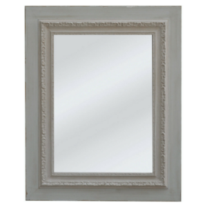 Stockholm Engraved Mirror Grey/Taupe