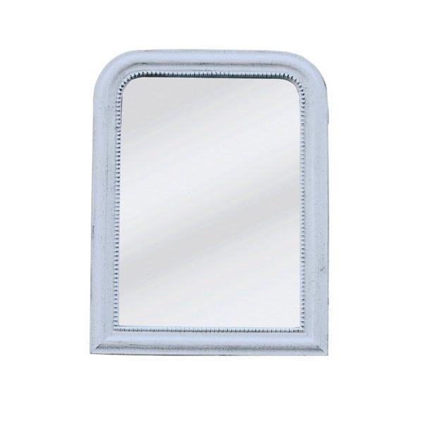 Vintage Mirror Antique White Small