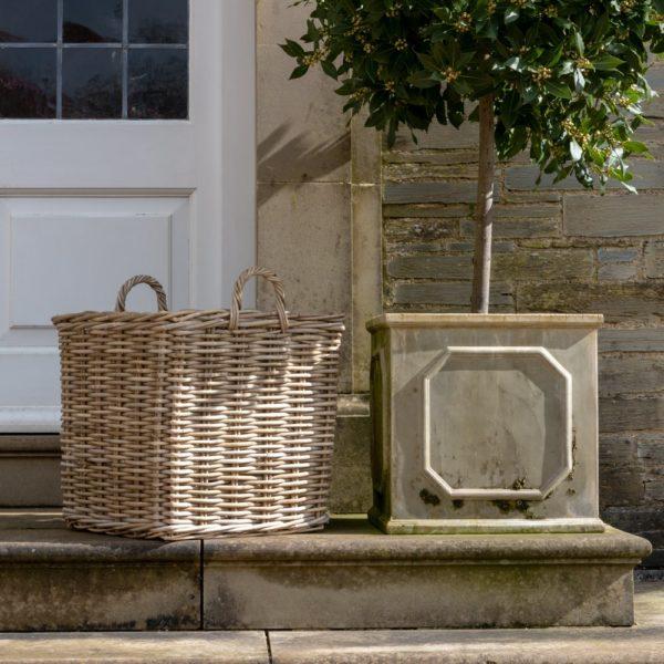 Square Kubu Log Baskets Large