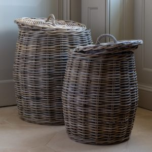 Kubu Lidded Laundry Basket Set of 2