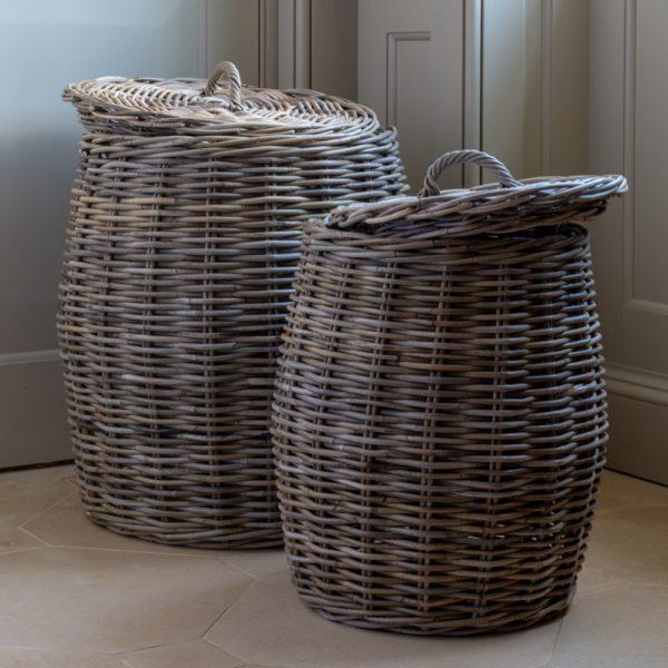 Kubu Lidded Laundry Basket Set of 2