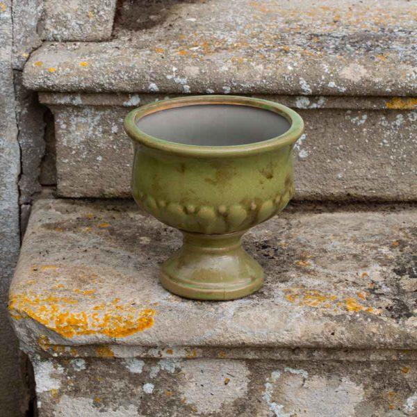 Ceramic Urn Verde Medium