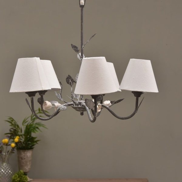 Provence Chandelier with Shades