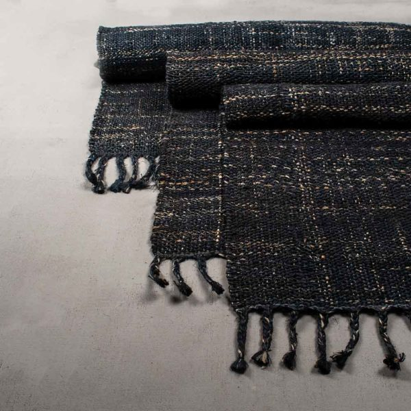 Sustainable Jute Rugs Textured Indigo