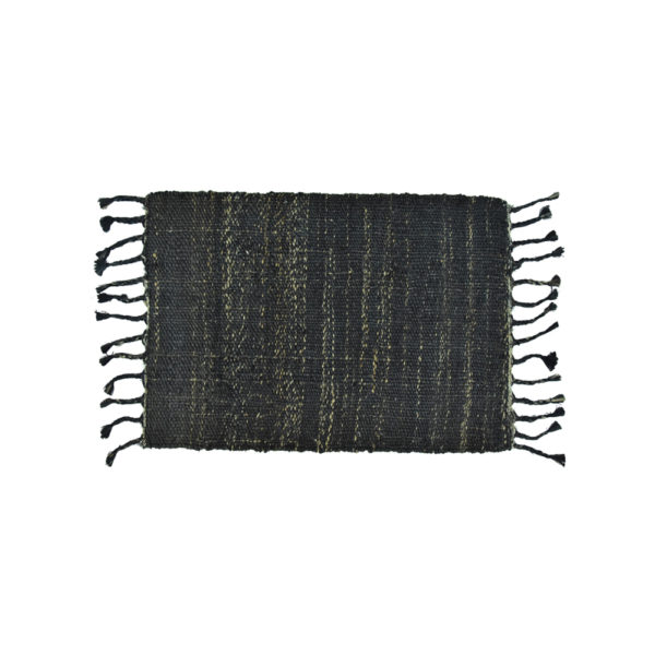 Jute Rug Textured Indigo Small 60x90cm