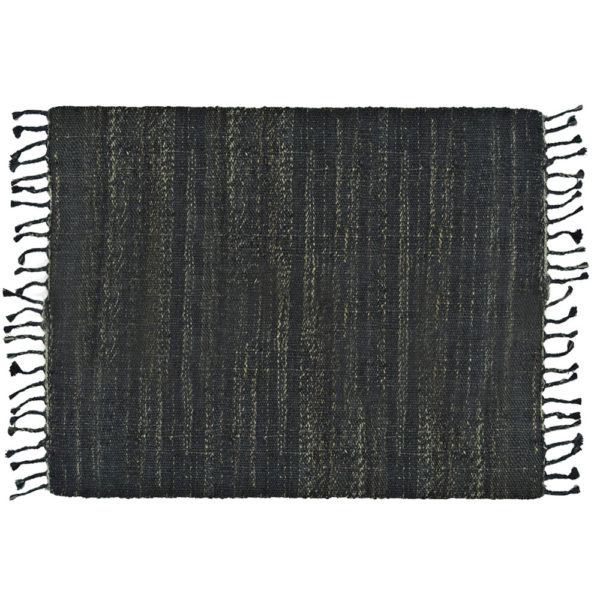 Jute Rug Textured Indigo Large 120x180cm