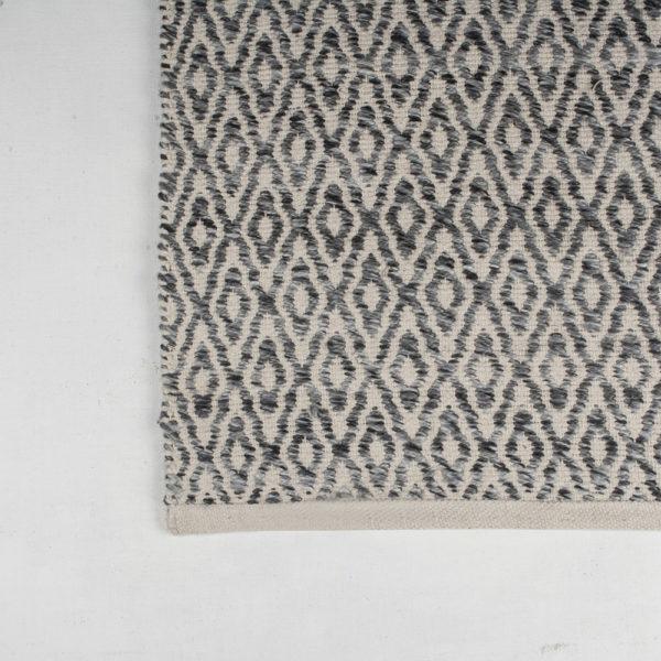 Woollen Rug Diamond Blue/Grey