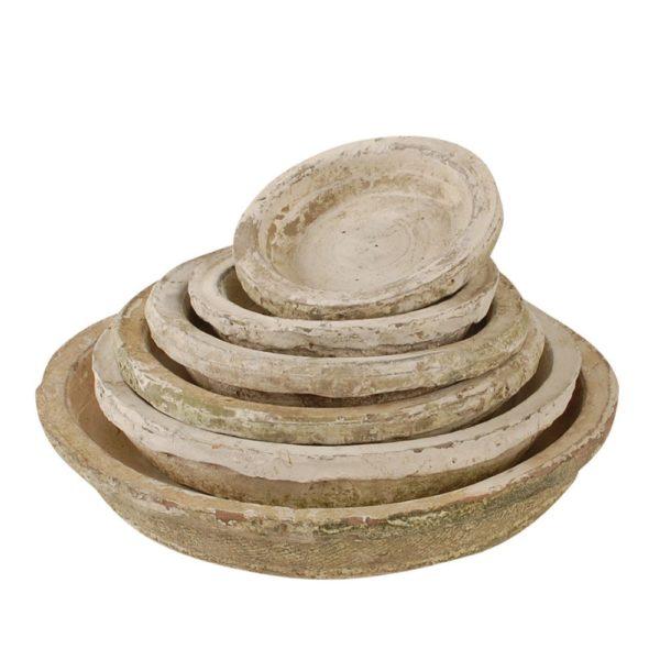 Antiqued Whitestone Saucer