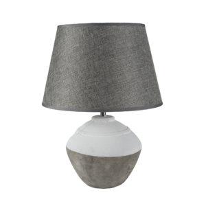 Stoneware Lamp Cali With Grey Shade