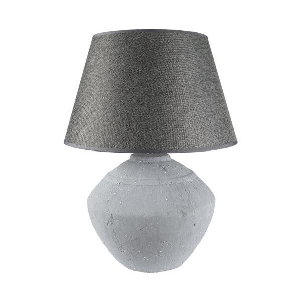 Stoneware Lamp Leo With Grey Shade