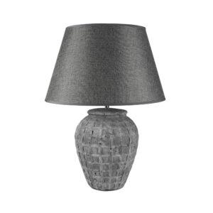 Stoneware Lamp Toro With Grey Shade