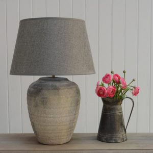 Lamp Ceramic Hortus with Dark Grey Shade