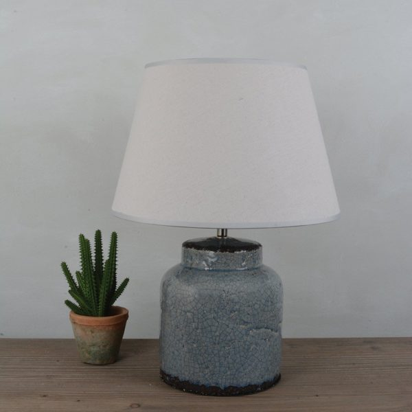 Ceramic Lamp Milos with Cream Shade