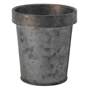 Zinc Flower Pot Small 11x12cm