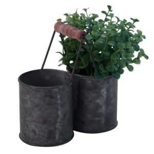 Zinc Twin Pot with Handle