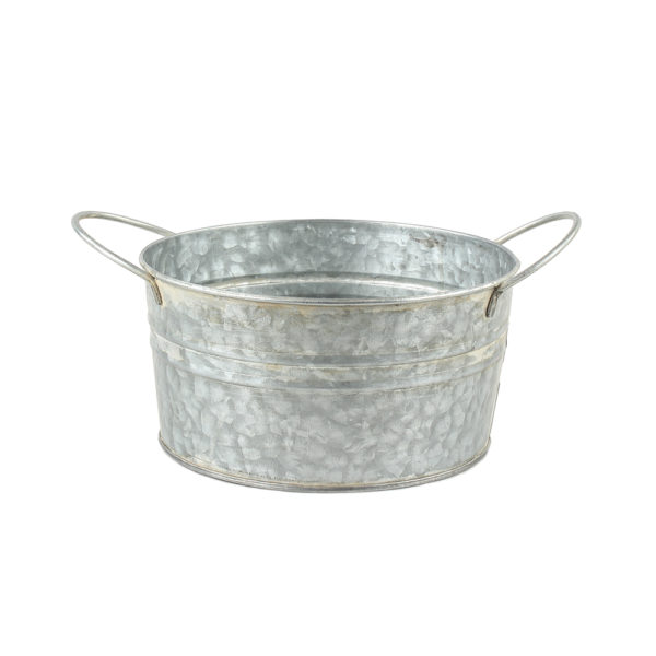 Zinc Round Bowl with Handles Small 18x9cm