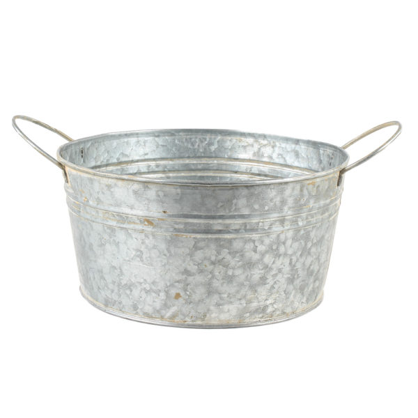 Zinc Round Bowl with Handles