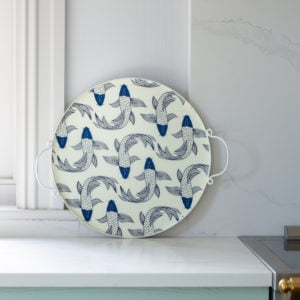 Round Drinks Tray Koi