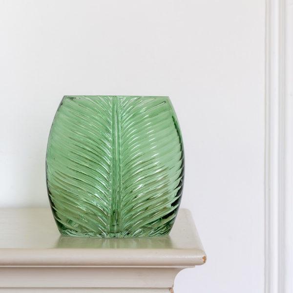 Leaf Glass Vase Green Large