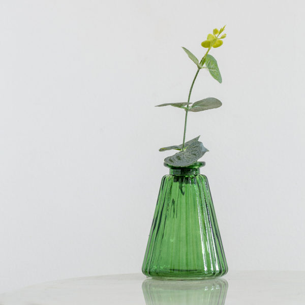 Glass Stem Vase Green
