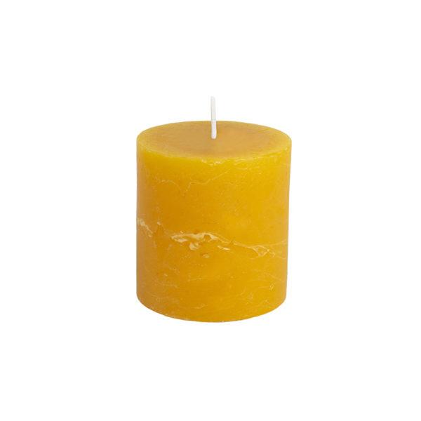 Rustic Pillar Candle Ochre 70x75mm
