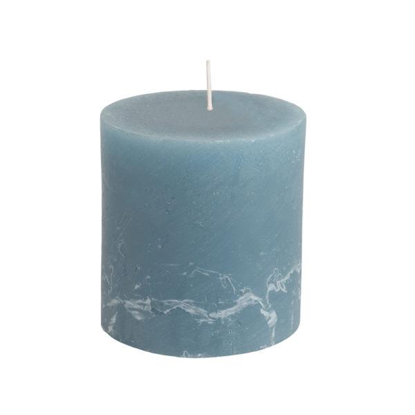 Rustic Pillar Candle Petrol Blue 70x75mm