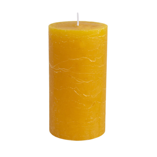 Rustic Pillar Candle Ochre 70x130mm