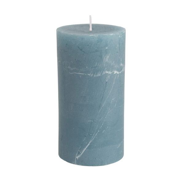 Rustic Pillar Candle Petrol Blue 70x130mm