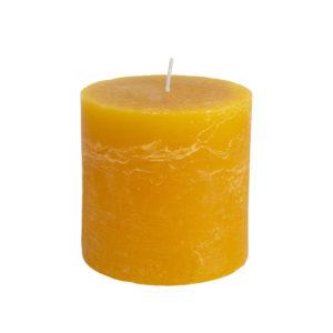 Rustic Pillar Candle Ochre 100x100mm
